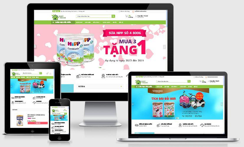 Fullcode website TMĐT mẹ và bé FC138 1
