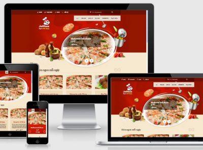 Fullcode website nhà hàng đồ ăn nhanh FC147 5