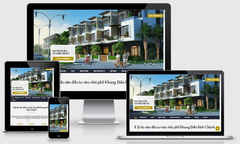 Fullcode website bất động sản nhà phố FC139 1