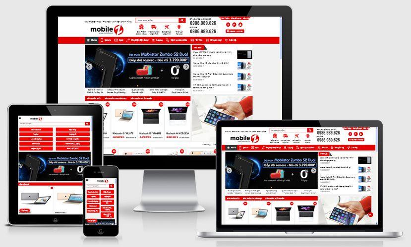 Fullcode website thế giới điện thoại di động FC137 1