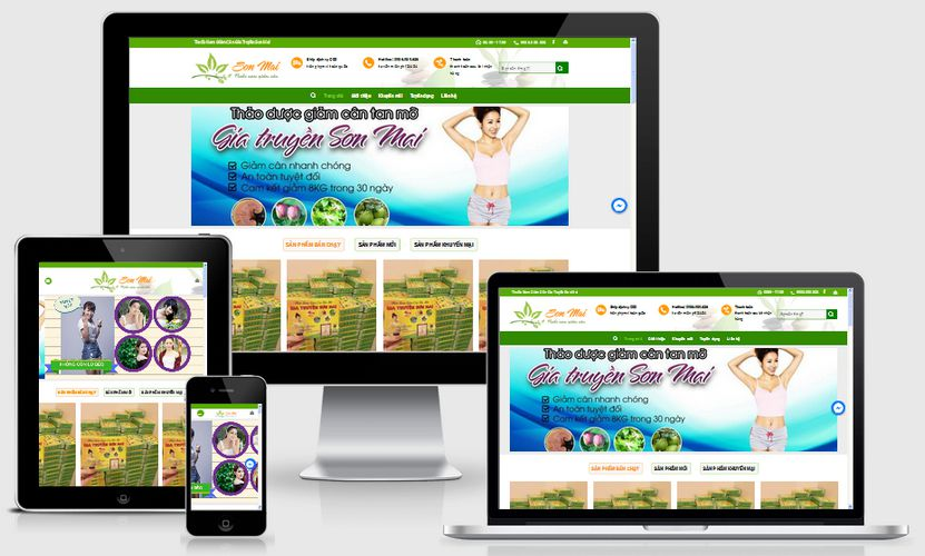 Fullcode website bán thuốc giảm cân FC128 1