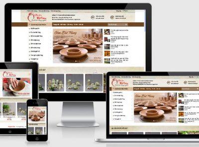 Fullcode website gốm bát tràng đẹp FC155 5