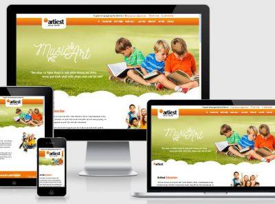Fullcode website trường dạy năng khiếu FC156 11
