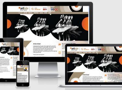 Fullcode website trường dạy nghệ thuật FC157 6