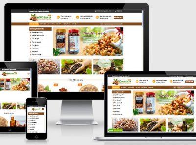 Fullcode website bán nông sản khô FC152 8