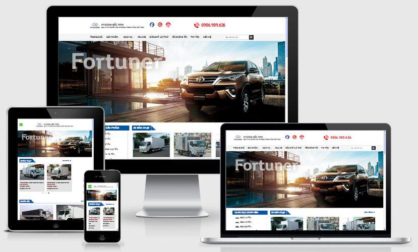 Fullcode website bán xe ô tô tải đẹp FC149 1