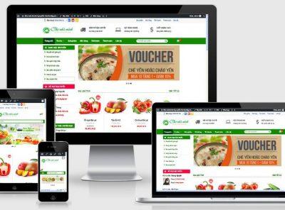 Fullcode website thực phẩm hoa quả FC151 9