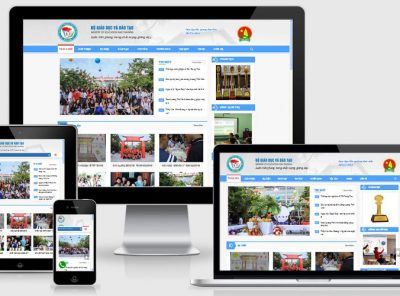 Fullcode website trường học phổ thông FC153 5
