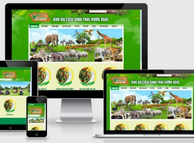 Fullcode website du lịch sinh thái đẹp FC165 6