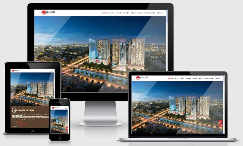 Fullcode website bất động sản Hinodecity FC166 1