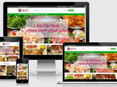 Fullcode website nhà hàng lẩu tại nhà FC159 6