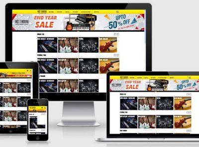 Fullcode website nhạc cụ âm thanh FC167 5