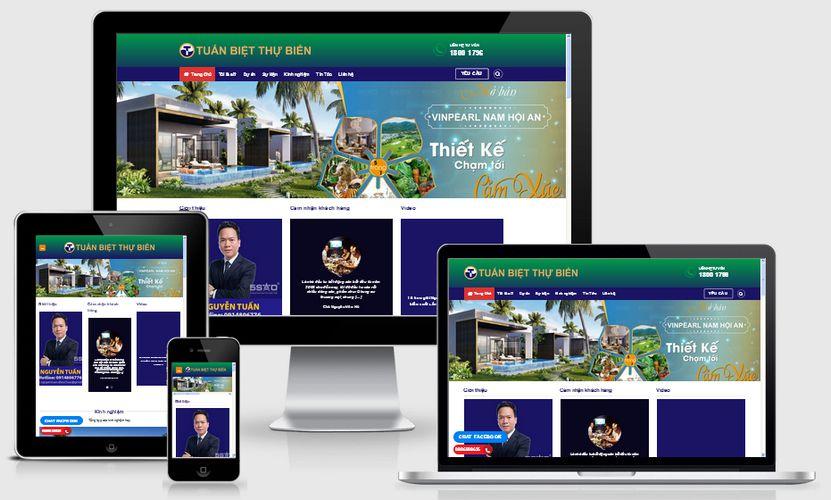 Fullcode website thương hiệu cá nhân bất động sản FC174 1