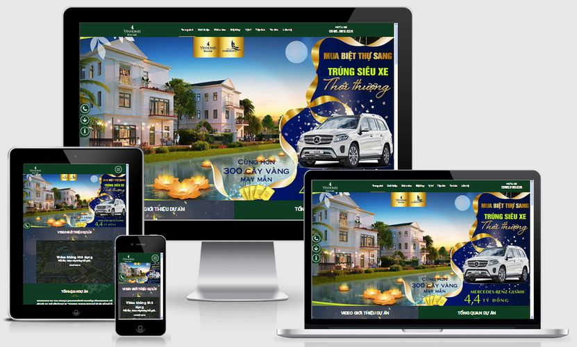 Fullcode website căn hộ chung cư Vinhome FC171 1