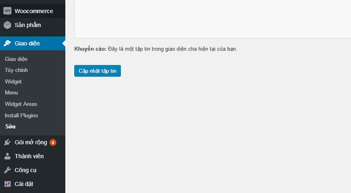 Hướng dẫn chỉnh sửa code trong file footer.php Wordpress 2