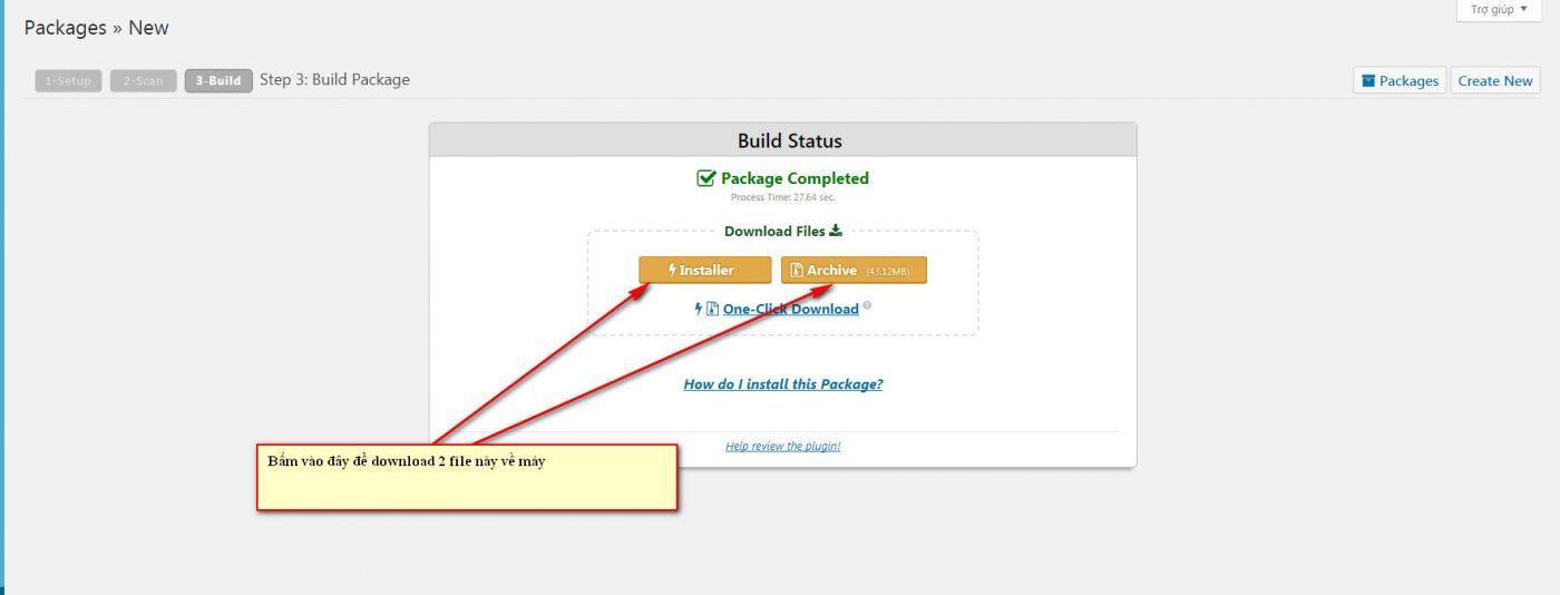 Hướng dẫn backup website Wordpress với Plugin Duplicator 6