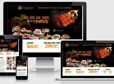 Fullcode website nhà hàng lẩu nướng BBQ FC200 5
