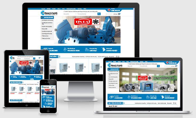 Fullcode website bán quạt công nghiệp giá rẻ FC191 1