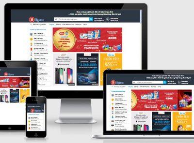 Fullcode website siêu thị gia đình tổng hợp FC202 4