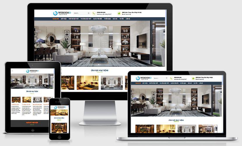 Fullcode website thiết kế thi công nội thất FC204 1