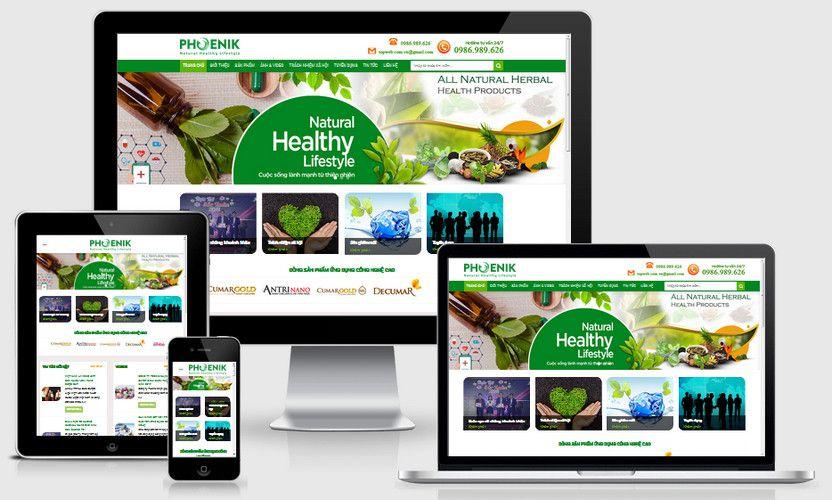 Fullcode website công ty bán dược phẩm thiên nhiên FC209 1