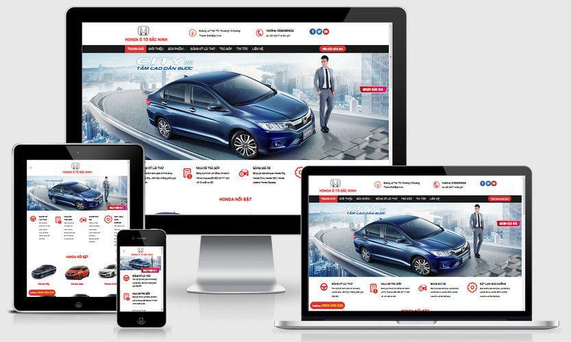 Fullcode website Honda ô tô Bắc Ninh FC217 1