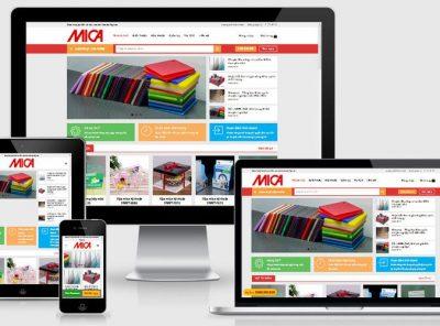 Fullcode website bán sản phẩm từ Mica FC210 25