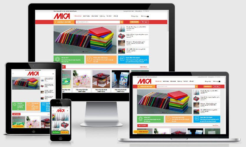 Fullcode website bán sản phẩm từ Mica FC210 1