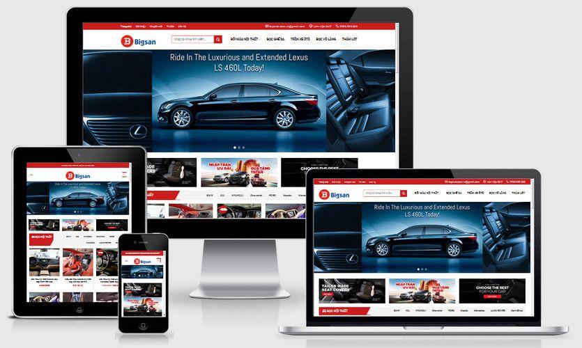 Fullcode website bán nội thất ô tô FC212 1