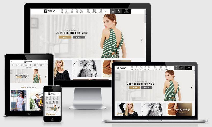 Fullcode website thời trang thiết kế FC214 1