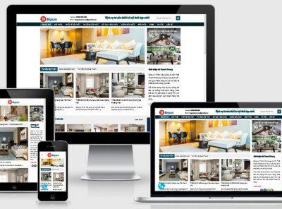 Fullcode website tư vấn thiết kế nội thất FC213 3