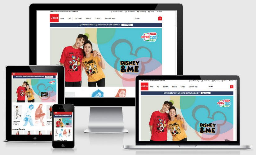 Fullcode website thời trang trẻ FC221 1