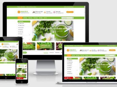 Fullcode website thực phẩm sạch FC222 4