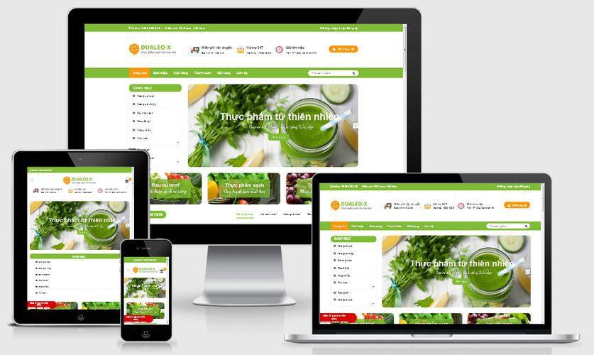 Fullcode website thực phẩm sạch FC222 1