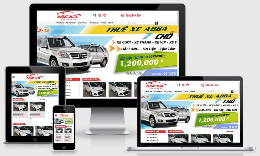 Fullcode website cho thuê xe ô tô FC225 1