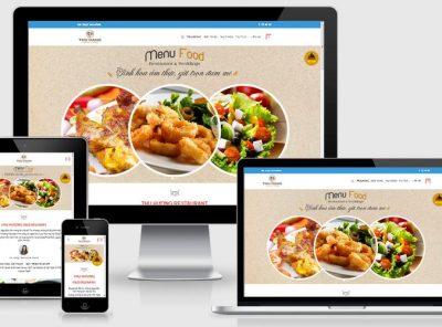 Fullcode website nhà hàng Thu Hằng FC231 2