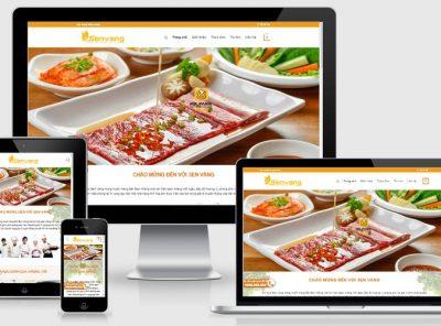 Fullcode website nhà hàng Sen Vàng FC232 2