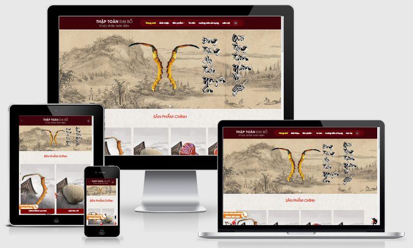 Fullcode website bán nhân sâm FC233 1