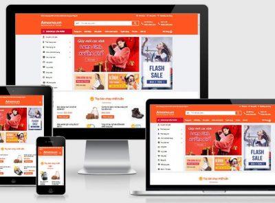Fullcode website shop bán hàng đẹp FC237 3