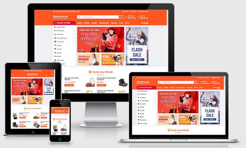 Fullcode website shop bán hàng đẹp FC237 1