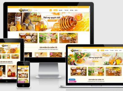 Fullcode website bán mật ong đẹp FC262 4
