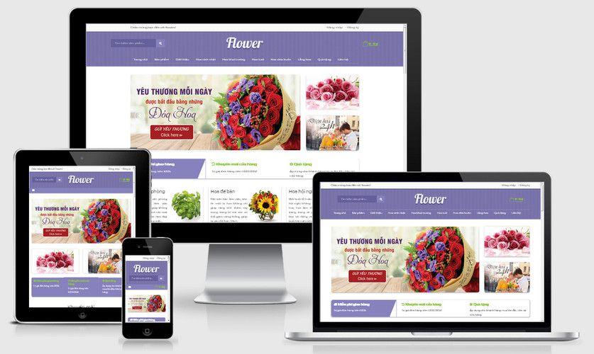 Fullcode website siêu thị hoa đẹp FC253 1