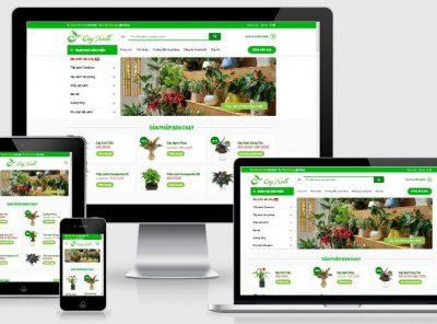 Fullcode website bán cây xanh văn phòng FC270 4