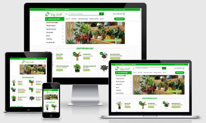 Fullcode website bán cây xanh văn phòng FC270 1