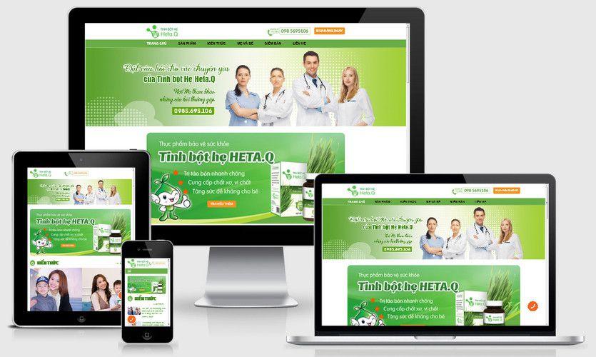 Fullcode website bán tinh bột hẹ FC276 1