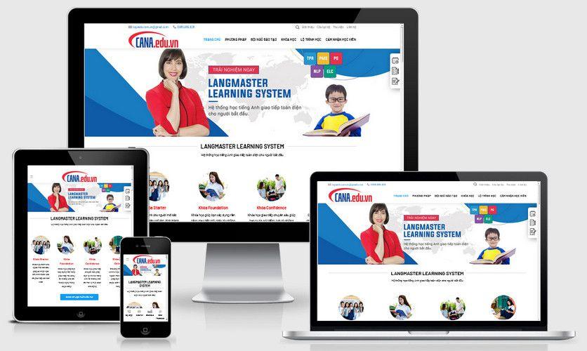 Fullcode website trung tâm tiếng anh FC277 1