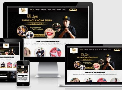 Fullcode website xăm môi thẩm mỹ FC278 5