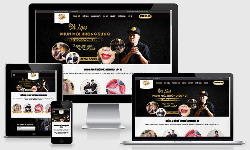 Fullcode website xăm môi thẩm mỹ FC278 1