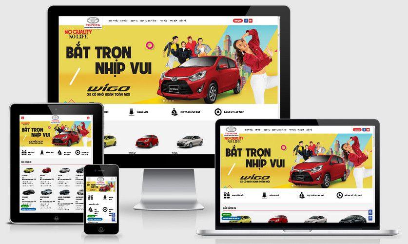 Fullcode website bán xe Toyota FC284 1