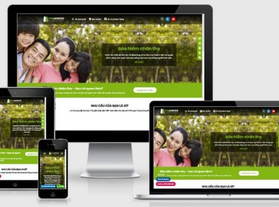 Fullcode website dịch vụ bảo hiểm nhân thọ FC304 3